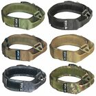 K9 HEAVY DUTY Dog Tactical Collar HOOK & LOOP Handle Medium Large Plastic Buckle