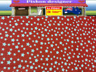 Flower Pattern Fabric 100%Cotton material width 150CM Stars Pattern