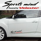 Sports mind powered by Veloster #7 Hyundai Car Decals Stickers Vinyl Banner I