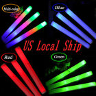 24/60 PCS Light Up Foam Sticks LED Wands Rally Rave Baton DJ Flashing Glow Stick