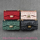 Fashion New Matt Camellia Chains Shoulder Bag Crossbody Handbag Satchel