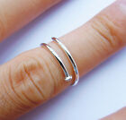 Wellmade Genuine Solid 925 Sterling Silver Nail Ring