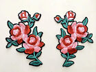 a pair flower patch gucci patch rose patch embroidered patch iron on patch sew