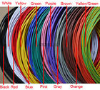18AWG 2mm Dia. UL1007 PVC Tinned Copper Stranded Wire Cable Cord 300V 2-10M