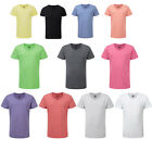 Boy's Russell Comfort Short Sleeved Miltred V-Neck HD T-Shirt Size 5/6-13/14 YRS