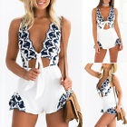 Women Ladies Summer Holiday Playsuit Jumpsuit Romper Beach Dress Embroidered NEW