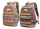 """15""""15.4""""15.6"""" Laptop Backpack Notebook Bag Case Canvas Bohemian Carry Pouch New"""