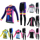 Logas Women's Cycle Jersey Long Sleeve Bike Clothing Bicycle Shirt + Padded