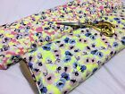 *NEW* Stretch Viscose Jersey Neon Floral  Prints  Dress/Craft Fabric*FREE P&P*
