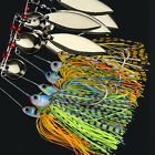 Lot 6 Mixed Color Spinner Fishing Lures Bass CrankBait Crank Bait Hook Tackle