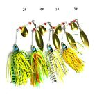 New 4pcs x Fishing Spinner Lure Spinnerbait Metal Fishing Baits 17.4g/0.6oz