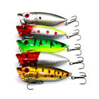 New Vivid 5pcs/Lot Popper Fishing Lures Baits Crankbaits 6#Hook Tackle 6.5cm/13g