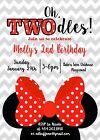Minnie Mouse, TWOdles, Two, Birthday Party Invitation
