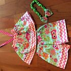 GIRLS SET AOWLS THEM SHORT WITH TOP . SPRING, SUMMER SIZES 12M TO 6Y