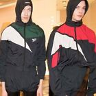 Mens Colorblock Collaboration Shell Hooded Zip Up Jacket Vetement