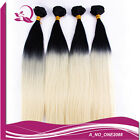 Hot Fashion bundles omber tone black/blonde straight hair extensions weft hair