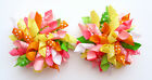 MATCHES GYMBOREE TEA TIME AFTERNOON GROSGRAIN RIBBON KORKER HAIR BOWS CLIP PONY