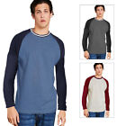 Brave Soul Mens Altaria T Shirt New Designer Long Sleeve Raglan Baseball Tee Top