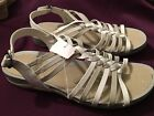 EASY MOTION BY EASY STREET WOMEN'S TWISTER SANDALS - GREY/WHITE - NWOB-NEW SHOES