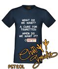 WHAT DO WE WANT Tourettes Swearing Funny Joke Adult Humour T-shirt Vest Tshirt