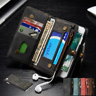 Magnetic PU Leather Removable Card Wallet Flip Case Cover for iPhone Samsung