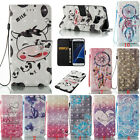 3D Painting Pattern Flip Leather Wallet Card Slot Case Cover For Samsung Galaxy