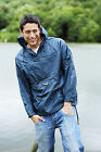 Mens Ladies Unisex Rain Jacket Coat 1/2 Zip Overhead Taped Seams