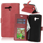 Luxury Flip Wallet Stand Card Slot PU Leather+TPU Cover Case For Alcatel HTC