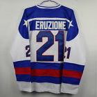 1980 Miracle on Ice 21 Mike Eruzione Ice Hockey Team USA Ice Hockey Jersey White