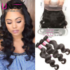 UNice Hair Peruvian Body Wave Human Hair 3 Bundles With 360 Lace Frontal Closure