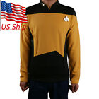 Star Trek TNG Uniform Cosplay Star Trek Gold Shirt Starfleet Commander Costumes on eBay