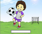 Football Soccer  Cartoon Character Personalized Matted Print  Product  11 x 14