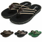 Men Outdoor Flip Flops Beach Slippers Sandals Flat Canvas Summer Vacation Shoes