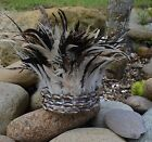 Feather & Shell Tribal Indian head piece for home decor or Headdress.