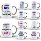 60th Happy Birthday Celebration Present Coffee MUG Cup Coaster Set Novelty Gift