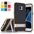 Hybrid Shockproof Brushed Bumper Stand Case Cover For Samsung Galaxy S6 S7 Edge