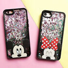For iPhone 5 6S 7  - Disney HARD + SOFT TPU RUBBER Flowing Liquid Waterfall Case