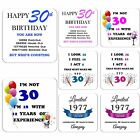30th Birthday Gift Drink Coaster Celebration Present Coffee Tea Cup Novelty