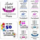 50th Birthday Gift Drink Coaster Celebration Present Coffee Tea Cup Novelty