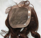 Full Lace Weave Closure Human Indian Remy Remi Premium Hair Partial Wig Brown