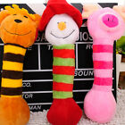 Puppy Dog Pet Plush Striped slippers Cat Rattles Chew gnaw Toy Sounding Fun Play