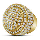 14K Gold Plated 925 Sterling Silver Round Cut White CZ Women's Fancy Ring