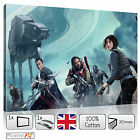 LARGE ROGUE ONE THE STAR WARS FILM - STRETCHED CANVAS WALL ART PRINTS PICTURES