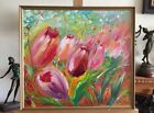 Tulips, oil painting in frame
