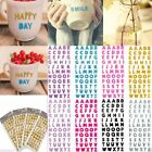 Stickers Alphabet Letter Self Adhesive Decoration Home Decals Wall