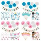 Baby Shower It's A Boy Girl Photo Props Paper Pom Poms Bunting Banner Party Dec