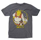 Shrek Donkey and Puss Mens Heather Grey T-Shirt $16.44 USD on eBay