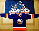 1977 Mike Bossy New York Islanders Blue Jersey Size Adult M + Vintage Flag 3x5