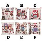 Fun Colourful Owl Design Cushion Pillow Case Cover - Free Shipping - NEW