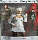 Simplicity Sewing Pattern 8201 Misses 14-22 Space Warrior Huntress Costume